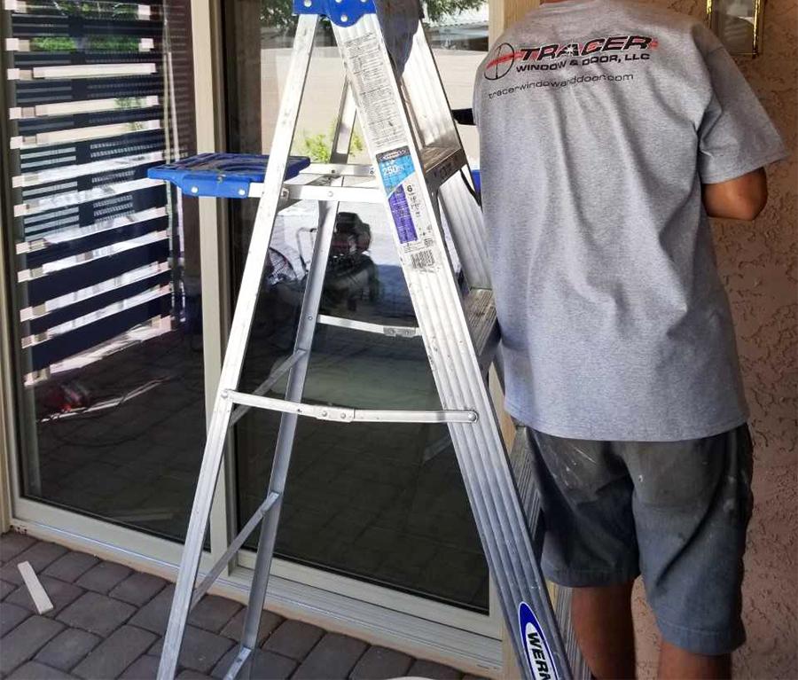 new sliding glass door