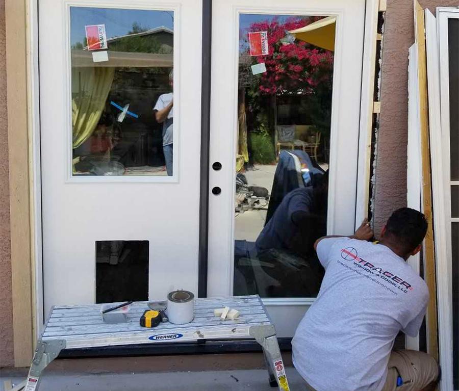 patio french door install